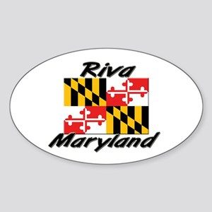 Riva Maryland Oval Sticker