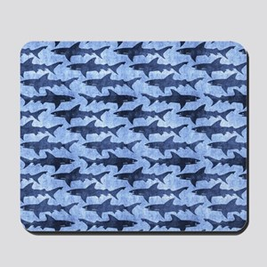 Sharks in the Blue Sea Mousepad
