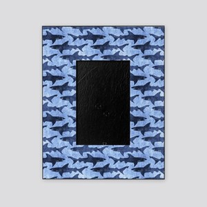 Sharks in the Blue Sea Picture Frame