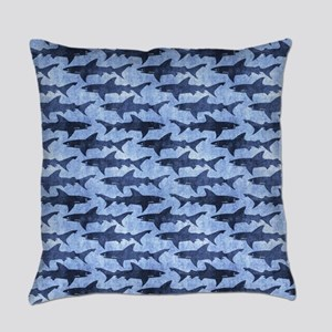 Sharks in the Blue Sea Everyday Pillow
