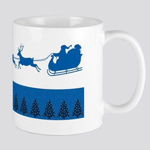 Blue Kentucky Christmas Mugs