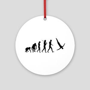 Diving Evolution Round Ornament