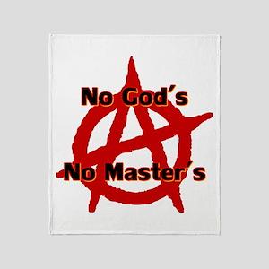 Anarchy No Gods No Masters Throw Blanket