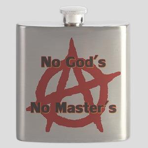 ANARCHY NO GODS NO MASTERS Flask