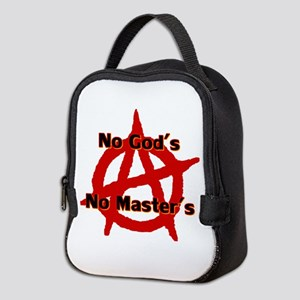 Anarchy No Gods No Masters Neoprene Lunch Bag