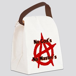 ANARCHY NO GODS NO MASTERS Canvas Lunch Bag