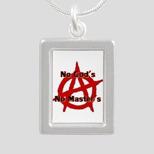 Anarchy No Gods Mast Silver Portrait Necklaces