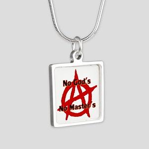 Anarchy No Gods Master Silver Square Necklaces