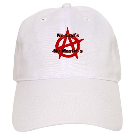 ANARCHY NO GODS NO MASTERS Baseball Cap by whatiftees d8c639c80d0