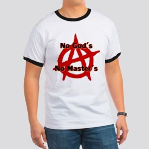 ANARCHY NO GODS NO MASTERS Ringer T