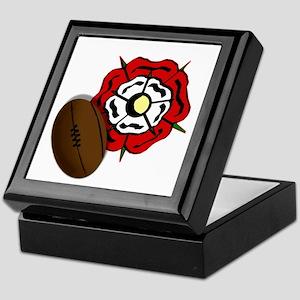 England Rose Rugby Keepsake Box