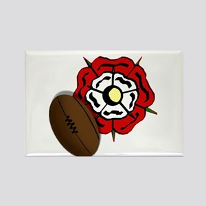 England Rose Rugby Rectangle Magnet