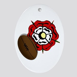 England Rose Rugby Ornament (Oval)