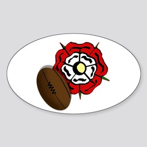England Rose Rugby Sticker (Oval)