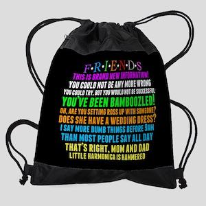 Friends Character Quotes Drawstring Bag