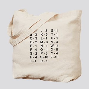 Scrabble Tile Points Tote Bag