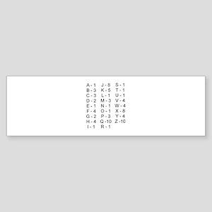 Scrabble Tile Points Bumper Sticker