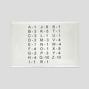 Scrabble Tile Points Rectangle Magnet