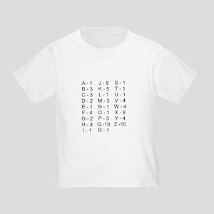 Scrabble Tile Points Toddler T-Shirt
