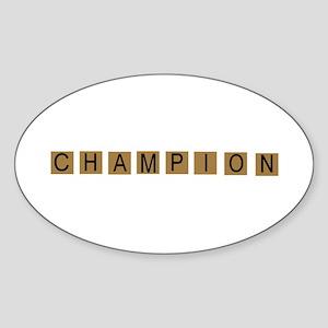 Tiled Champion Oval Sticker