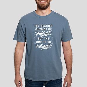 Funny Christmas and Wine Mens Comfort Colors Shirt