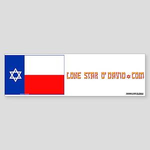 LONE STAR O'DAVID.... Bumper Sticker