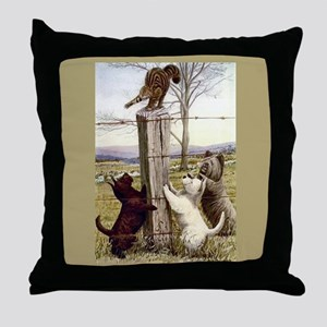 Scottie, Westie & Skye Terrie Throw Pillow