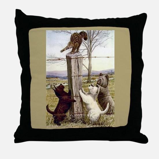 Scottie, Westie & Skye Terrie Throw Pillow