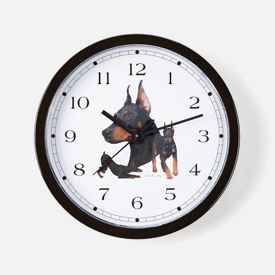 Three Dobes Wall Clock