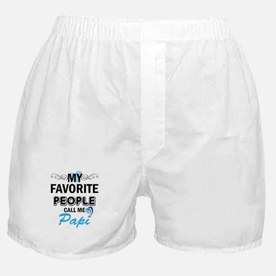 my fovorite people call me papi Boxer Shorts