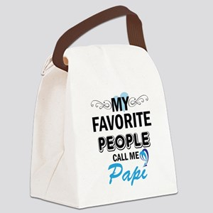 my fovorite people call me papi Canvas Lunch Bag