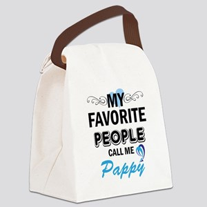 my fovorite people call me pappy Canvas Lunch Bag