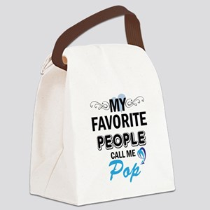 my fovorite people call me pop Canvas Lunch Bag