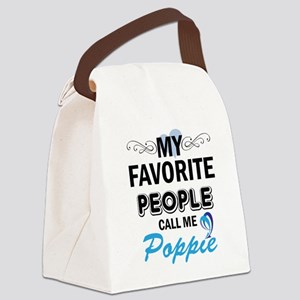 my fovorite people call me poppie Canvas Lunch Bag