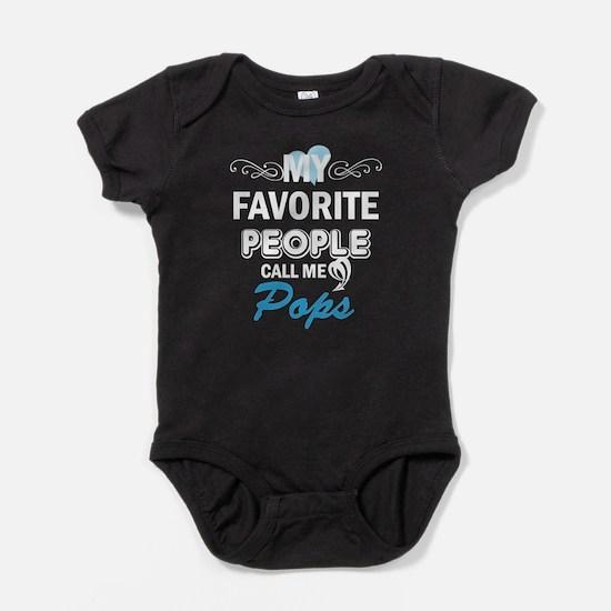 my fovorite people call me pops Baby Bodysuit