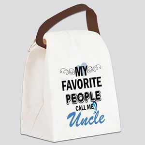 my fovorite people call me uncle Canvas Lunch Bag