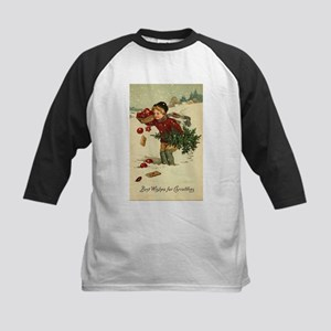 Victorian Christmas Vintage Retro Baseball Jersey