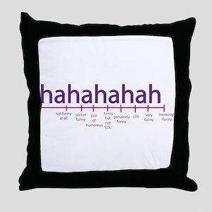 Funny level Throw Pillow