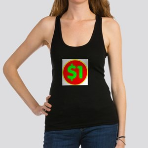 PRICE TAG LABEL - $1 - ONE DOLL Racerback Tank Top