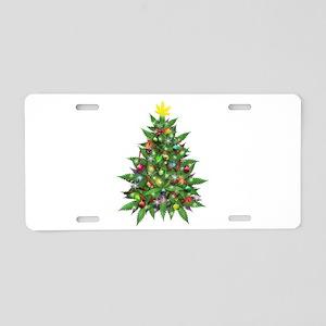 Marijuana Christmas Tree Aluminum License Plate