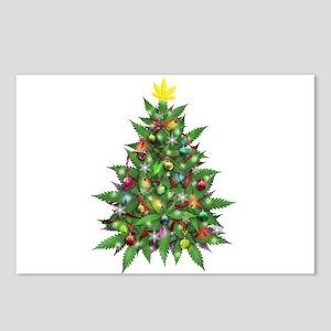 Marijuana Christmas Tree Postcards (Package of 8)