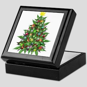 Marijuana Christmas Tree Keepsake Box
