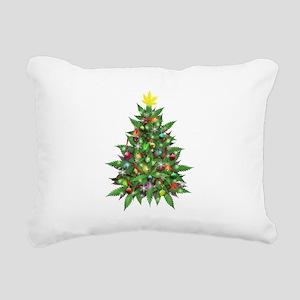 Marijuana Christmas Tree Rectangular Canvas Pillow
