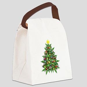 Marijuana Christmas Tree Canvas Lunch Bag