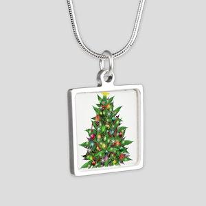 Marijuana Christmas Tree Necklaces