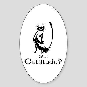 Got Cattitude? Oval Sticker