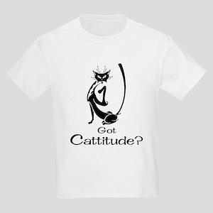 Got Cattitude? Kids Light T-Shirt
