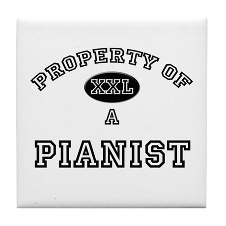 Property of a Pianist Tile Coaster