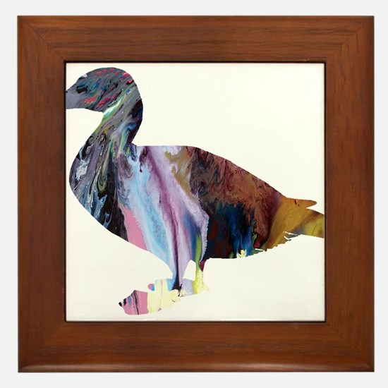 Eider duck Framed Tile