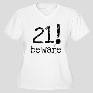 21 Beware Women's Plus Size V-Neck T-Shirt